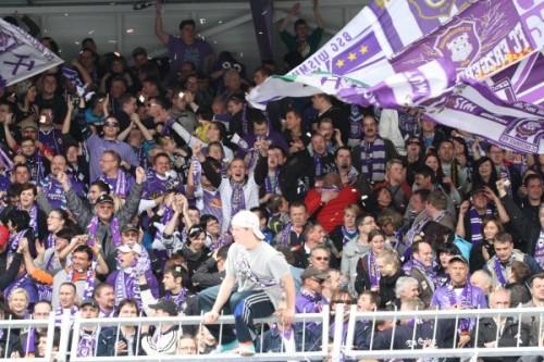 Bislang dürfen sich die Veilchen Fans über den FCE freuen Foto: B. Hiemer
