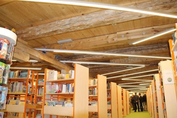 Die Bibliothek im Kornhaus. Foto: Conny Lenk