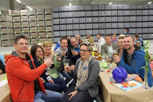 Mit einem Mitarbeiterfest wurde die neue Halle eingeweiht. Foto: Daniela Pfeuffer/ Wirthwein AG