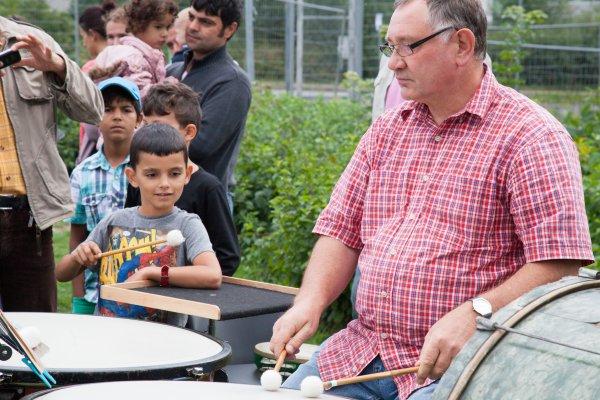 Kinder- und Familienkonzert in der Erstaufnahmeeinrichtung Schneeberg Fotos: Daniel Unger/MSE
