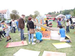 Zum Bürgerfest war nicht nur Staunen, sondern auch Kreativität gefragt. Foto: Alice Jagals