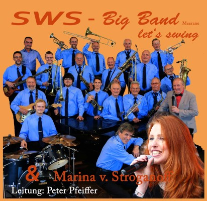 Die SWS Big-Band wird gemeinsam mit Marina von Stroganf in der Meeraner Stadthalle auftreten. Foto: Band