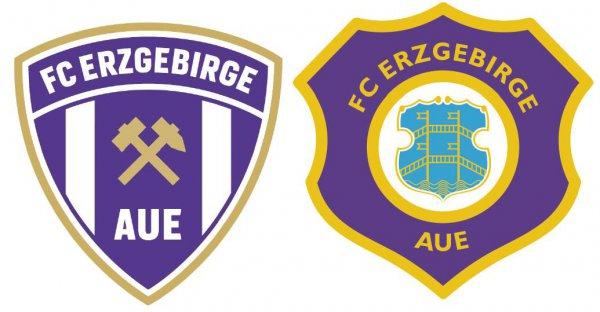 Das neue (links) und das alte Wappen. Am 26. November soll auf der Mitgliederversammlung die Entscheidung fallen, welches der Verein bekommt beziehungsweise behält. Logos: FCE