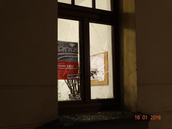 Auch das Büro von Dr. Jana Pinka (DIE LINKE) wurde angegriffen Foto: DIE LINKE