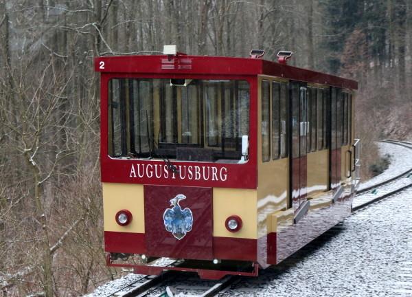 """Rund 1280 Meter Fahrweg legt die """"alte Dame"""" auf der Strecke zwischen Erdmannsdorf und Augustusburg zurück. Foto: rp"""