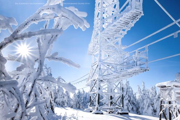 Die Wettermessstation auf dem kleinen Fichtelberg