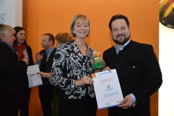Veronika Hiebl und Alexander Bonde auf der INTERGASTA in Stuttgart.