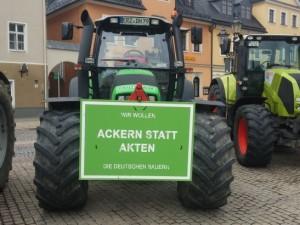 Bauern protestieren auch in Annaberg-Buchholz.