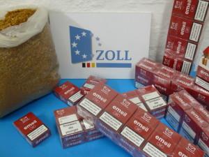 433.000 geschmuggelter Zigaretten wurden sichergestellt. Foto: Zoll
