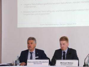 Hans-Joachim Wunderlich (IHK) und Michael Weber (ifo-Institut). Foto: IHK