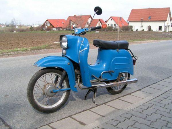 DDR-Mopeds wie diese Schwalbe sind inzwischen selten geworden. Vier wurden jetzt in Klaffenbach gestohlen Foto: wikipedia.de
