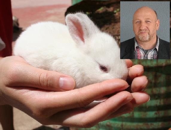 Tierarzt Frank Scholz aus Olbernhau ist Experte für Kaninchen, Fachmann in Sachen Chinaseuche.