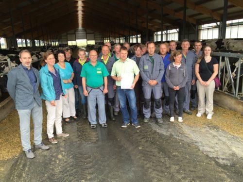 Mitarbeiterinnen und Mitarbeiter der Landwirtschaftsgenossenschaft Ottendorf/Krumach e.G. Foto: privat