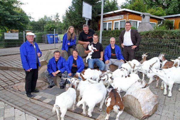Seit Juli kümmern sich mehr Menschen um die Tiere im Tiergehege. Das freut auch die 17 Ziegen, unter ihnen die älteste mit 18 Jahren. Ihr Name ist Mary. Foto: Alice Jagals