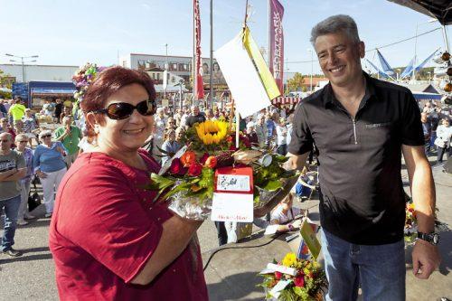 Zu den Gewinnern des Kürbiswettbewerbes gehört Steffi Sonntag aus Meerane. Foto: Reinhard Haupt 4