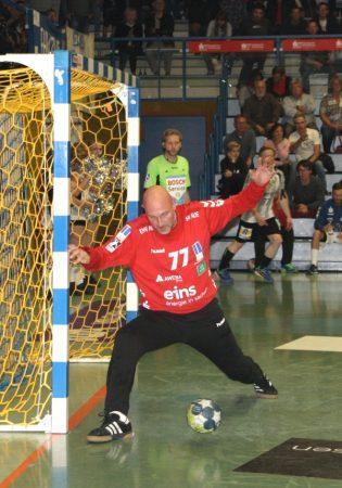 Andreas Bayerschmidt zeigte vollen Einsatz und konnte so manchen Torschuss abwehren.