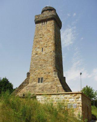 Der Bismarck-Turm in Glachau ist derzet gesperrt. Er ist der größte der in Deutschland noch erhaltenen 173 Bismarck-Türme. Foto. Uwe Wolf