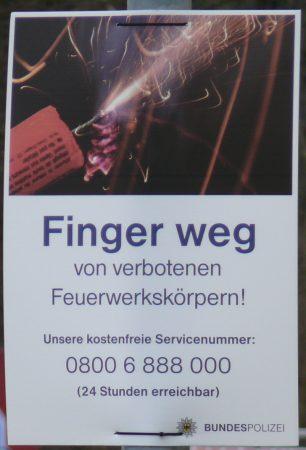 Mit diesen Plakaten will die Bundespolizei aufklären. Foto: Bundespolizei