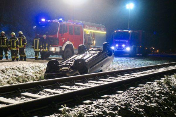 Unfall zwischen Johanngeorgenstadt und Erlabrunn. Fotos: Daniel Unger