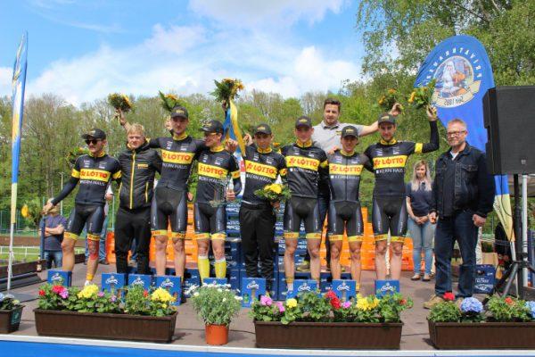 Das Team Lotto Kern- Haus gewannen die Mannschaftswertung und sind führender in der Einzelwertung sowie Nachwuchswertung. Foto: Nicole Neubert