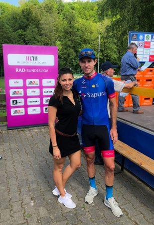 Mario Vogt vom Team Sapura Cycling ist der Sieger der 39. Erzgebirgs- Rundfahrt. Foto: Martin Schrott