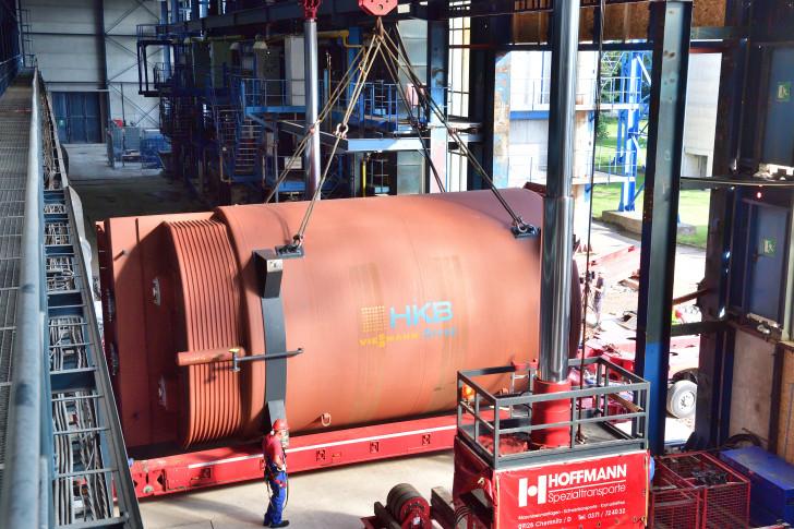 Mächtig Dampf auf dem Kessel: Drei neue Heizkessel für Heizwerk ...