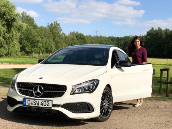 Nach einer Tour durch Chemnitz, besuchte ich mit dem Mercedes-Benz CLA Shooting Brake das Wasserschloss Klaffenbach.  Foto: Martin Schrott